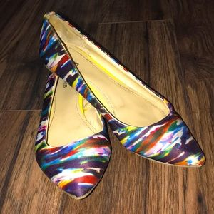 Size 10 Express Multicolor Pointed Toe Flat Shoes